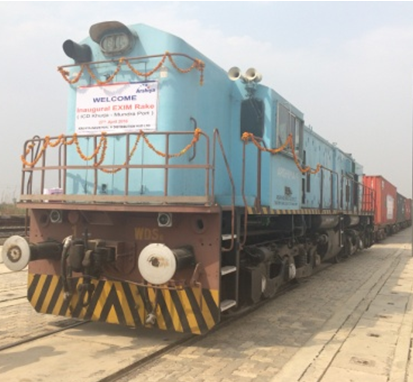 Arshiya Rail flags off its 1 <sup>st </sup> EXIM service from Khurja ICD